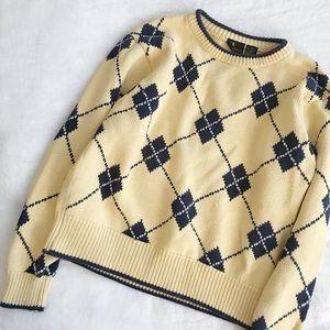 Sunny Argyle Sweater